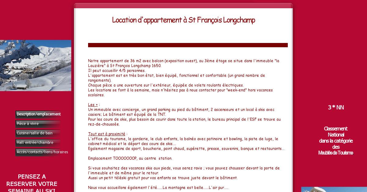 Location appart st francois longchamp sambuis - Office tourisme st francois longchamp ...